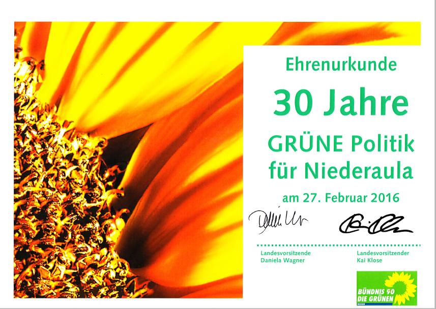 30 Jahre Grüne Fraktion